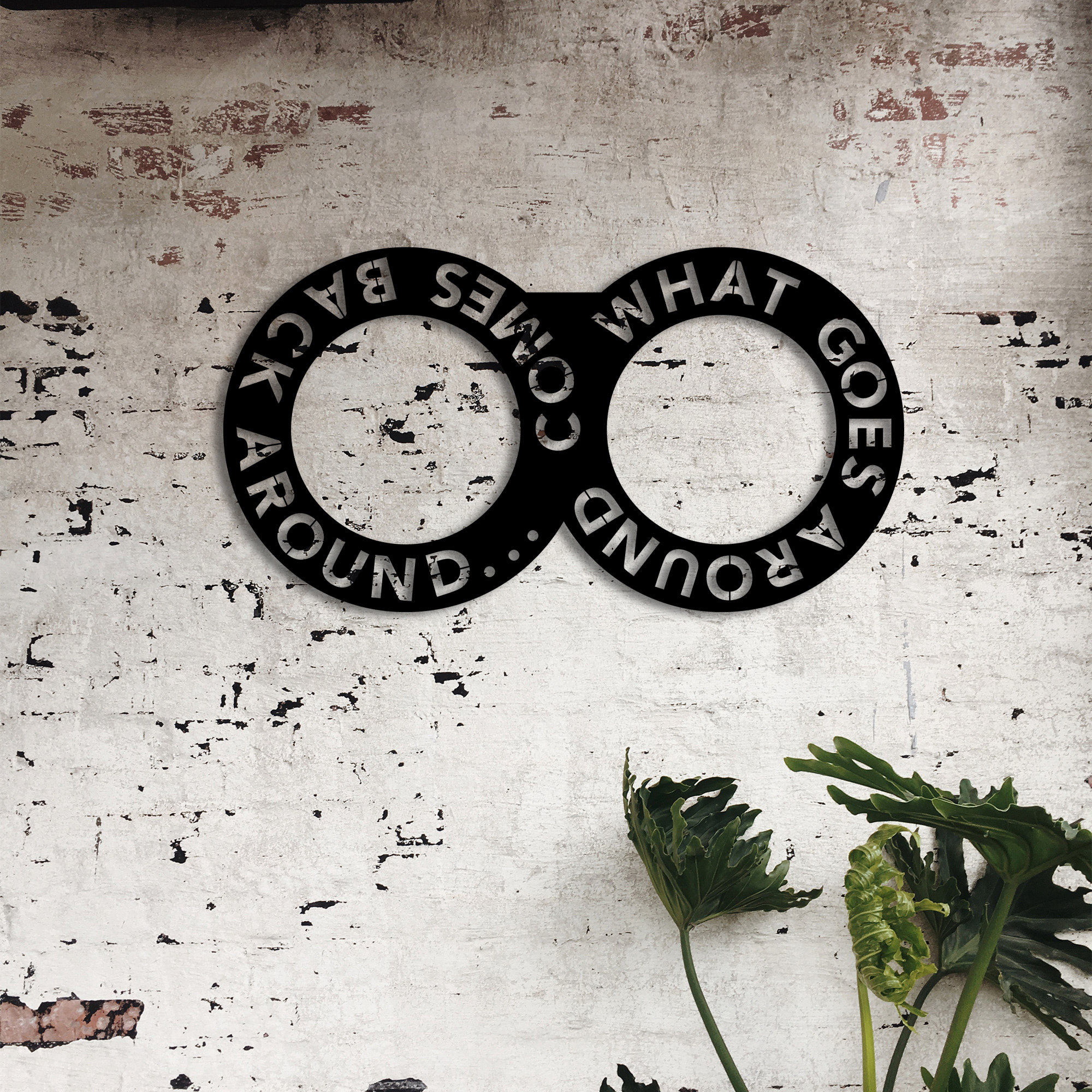 What Goes Around – Metal Wall Art