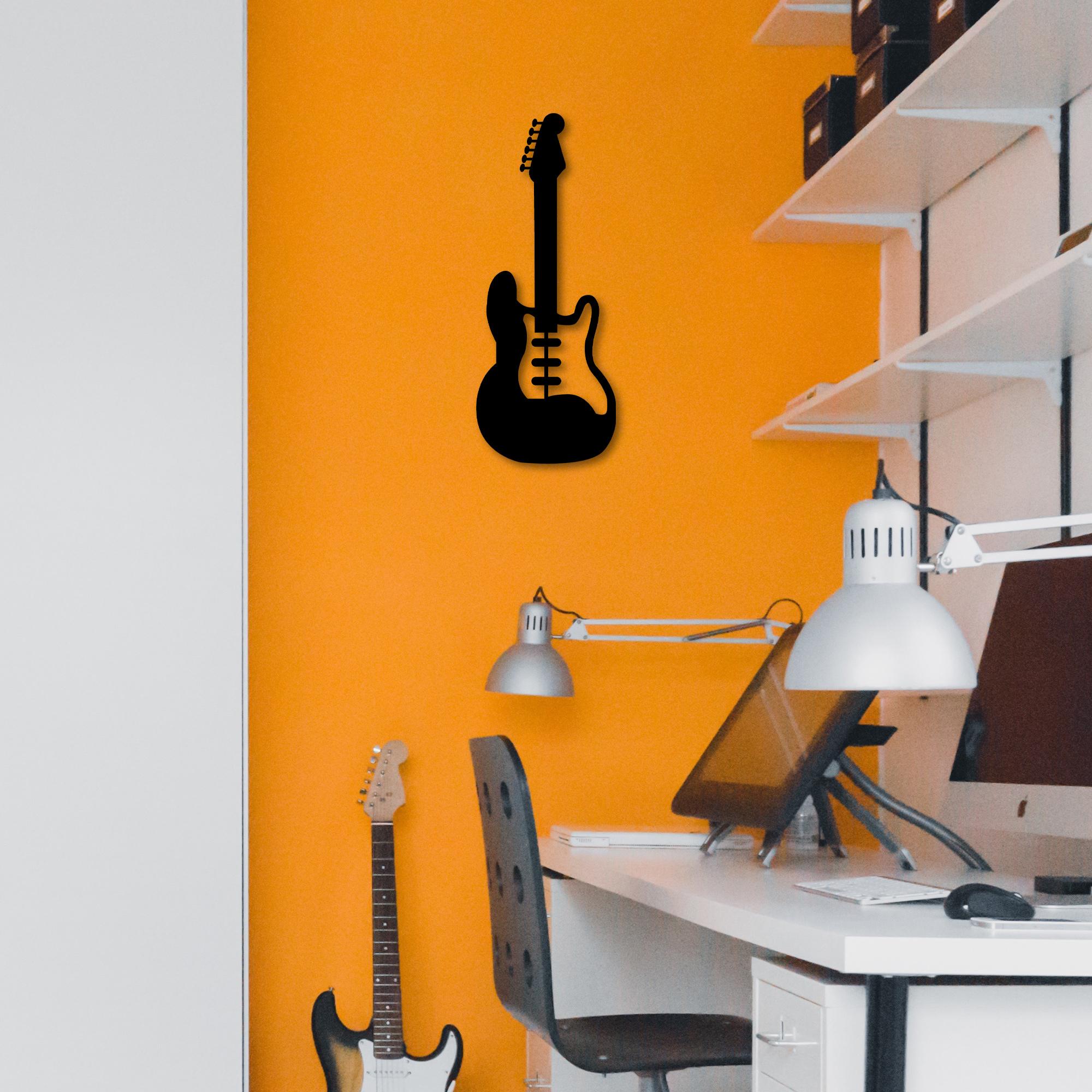 Bass Guitar I – Metal Wall Art