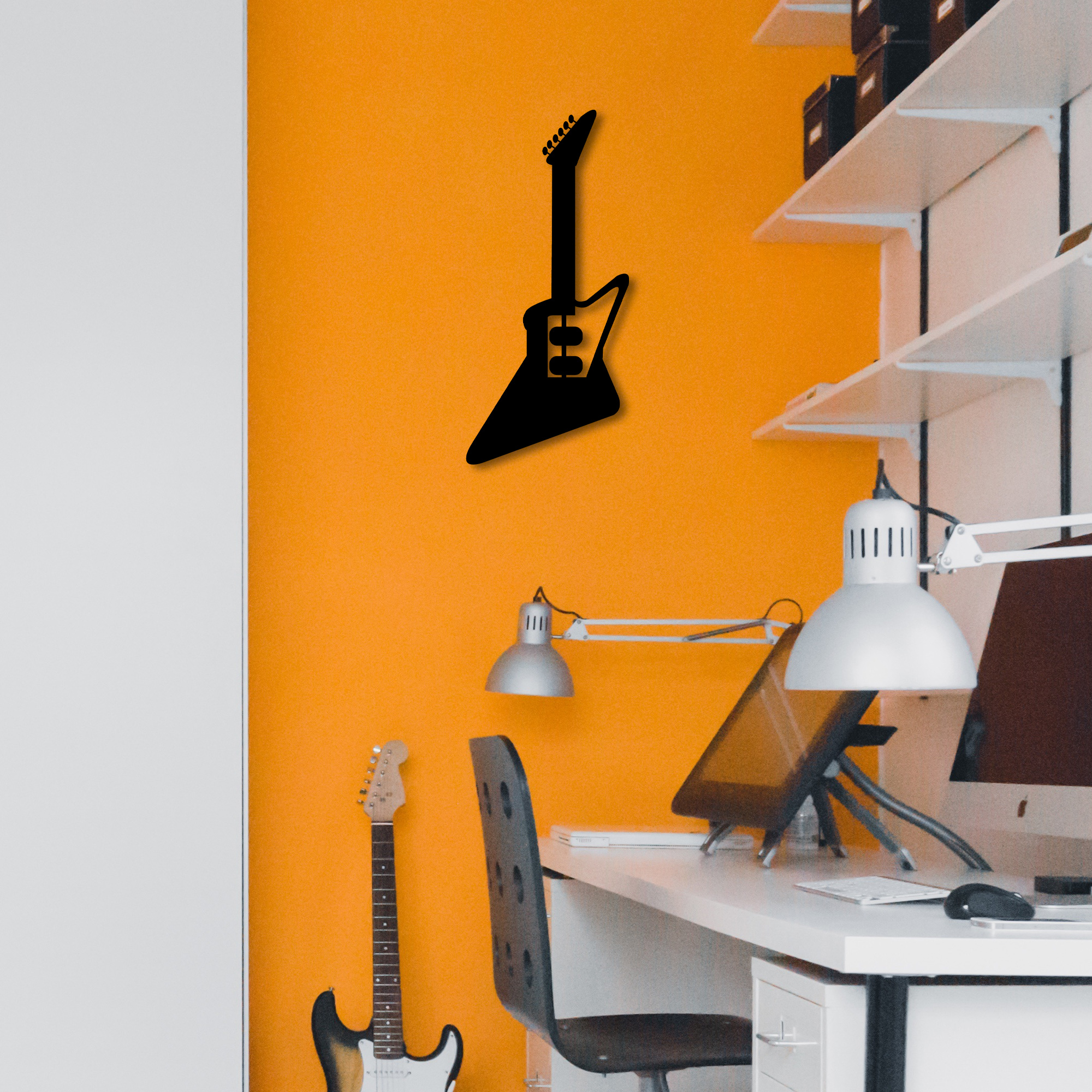 Electro Guitar I  – Metal Wall Art