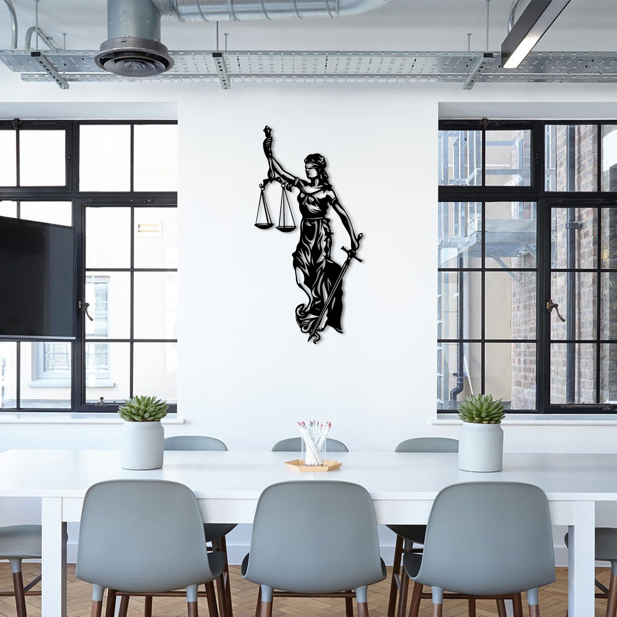 Lady of Justice  – Metal Wall Art