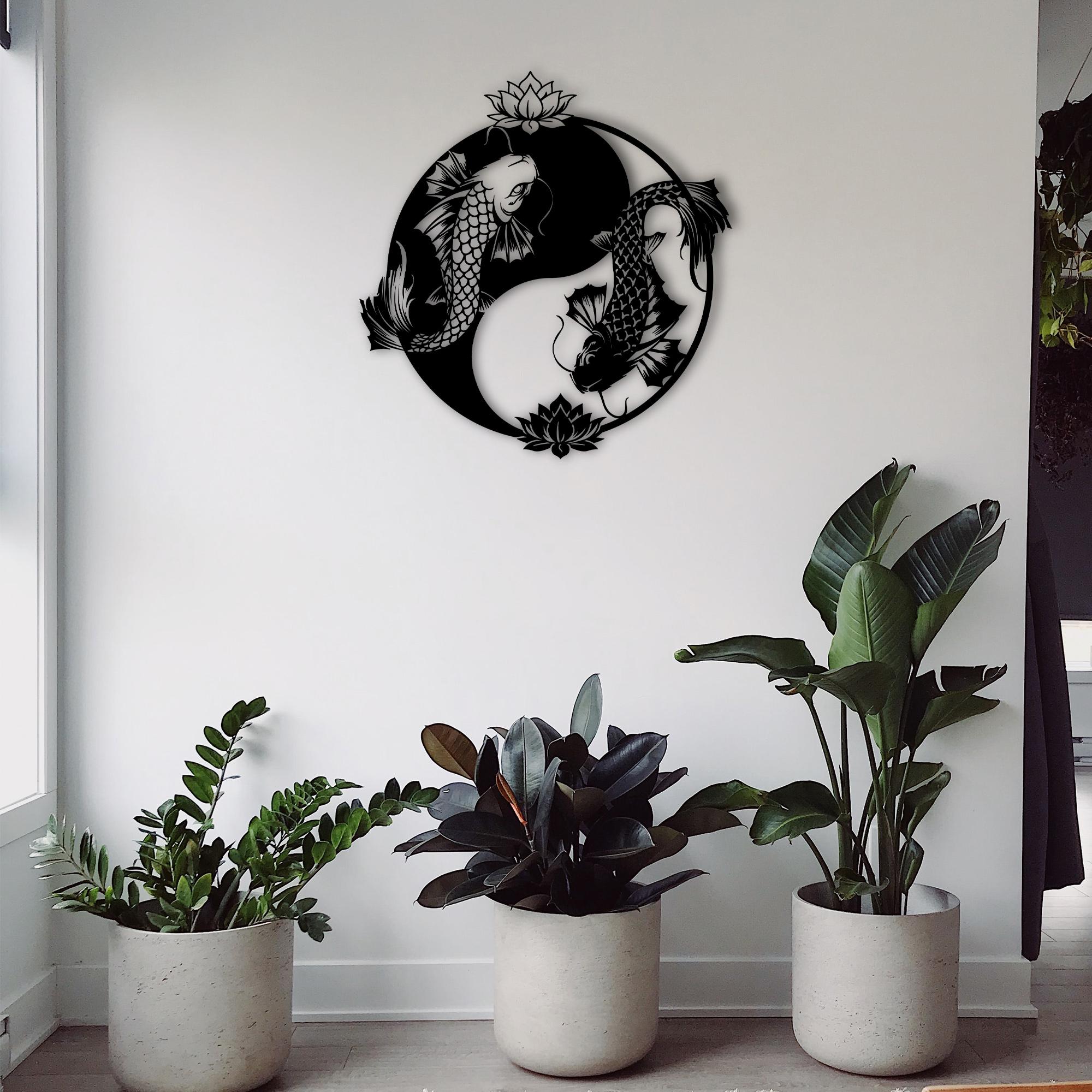 Ying Koi – Metal Wall Art