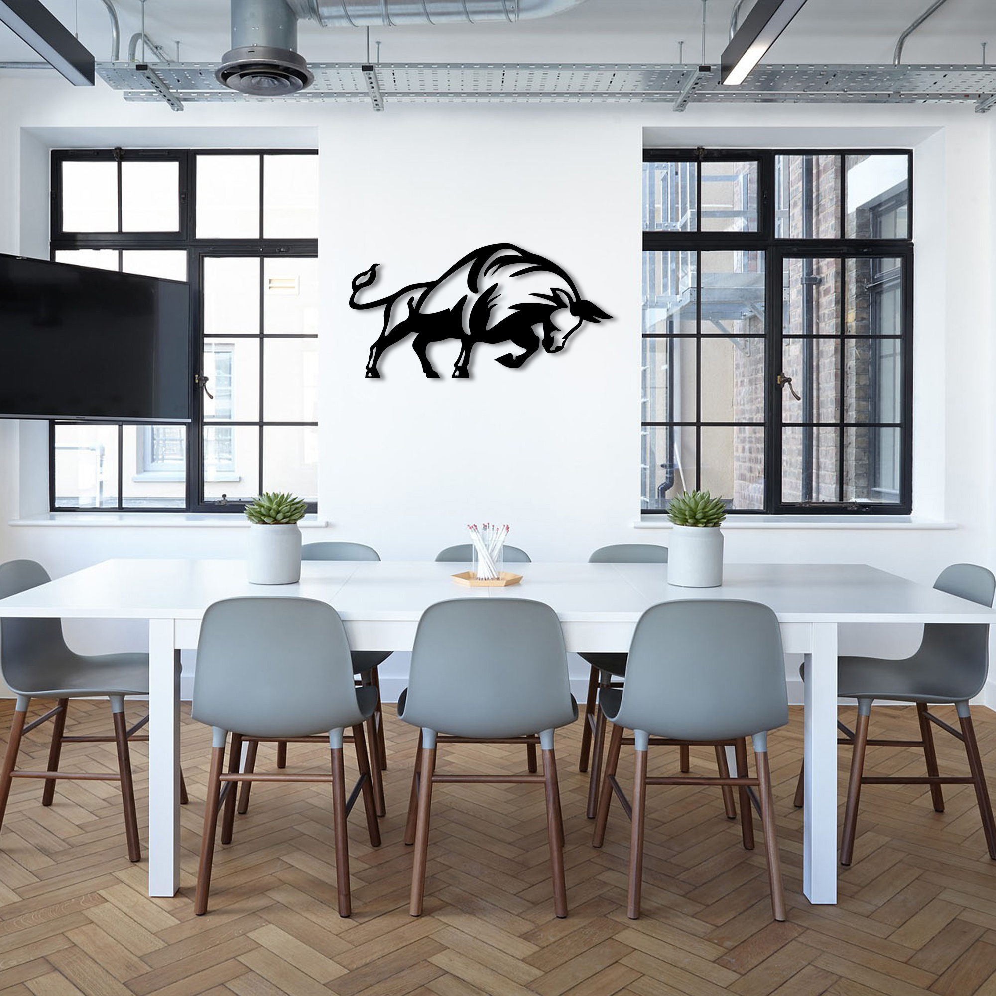 Bull – Metal Wall Art