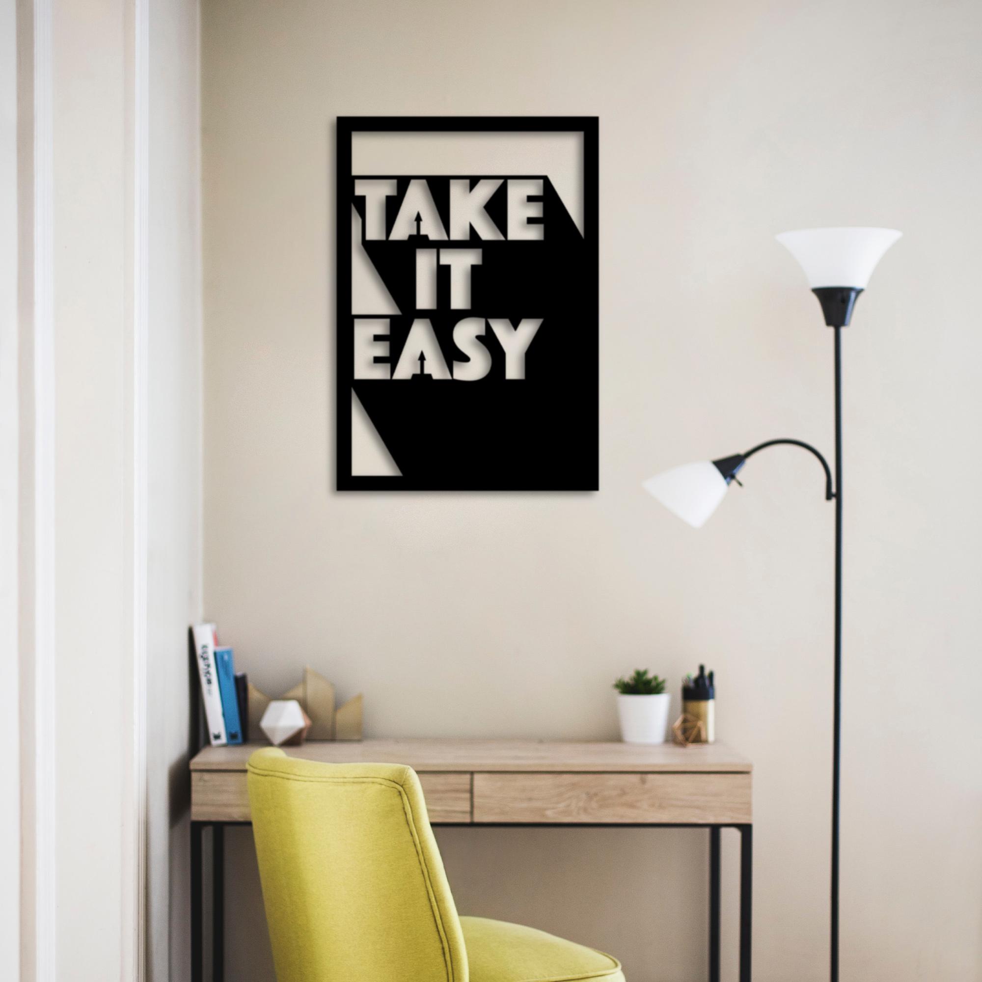 Take It Easy – Metal Wall Art