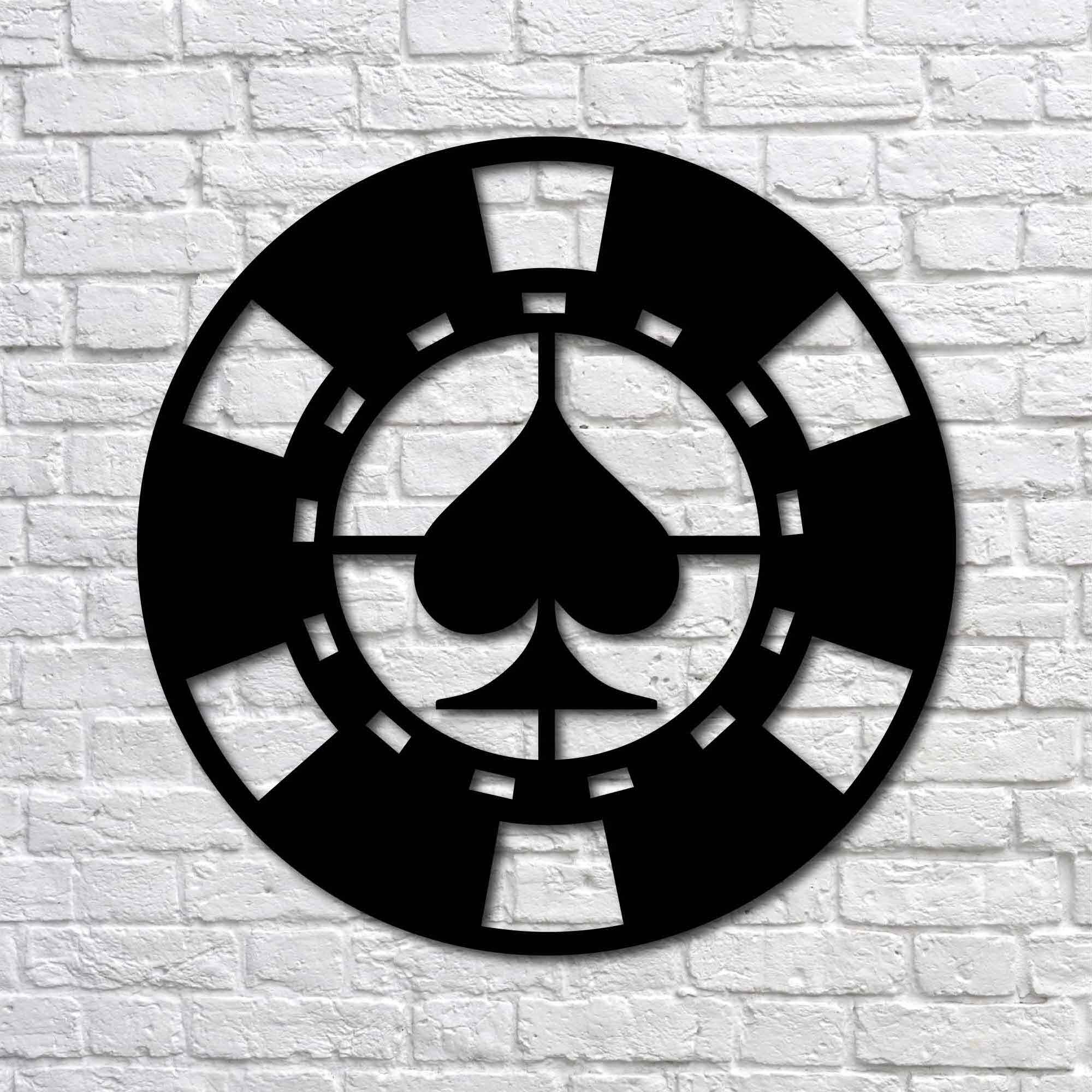 Spade Poker Chip – Mini Metal Wall Art