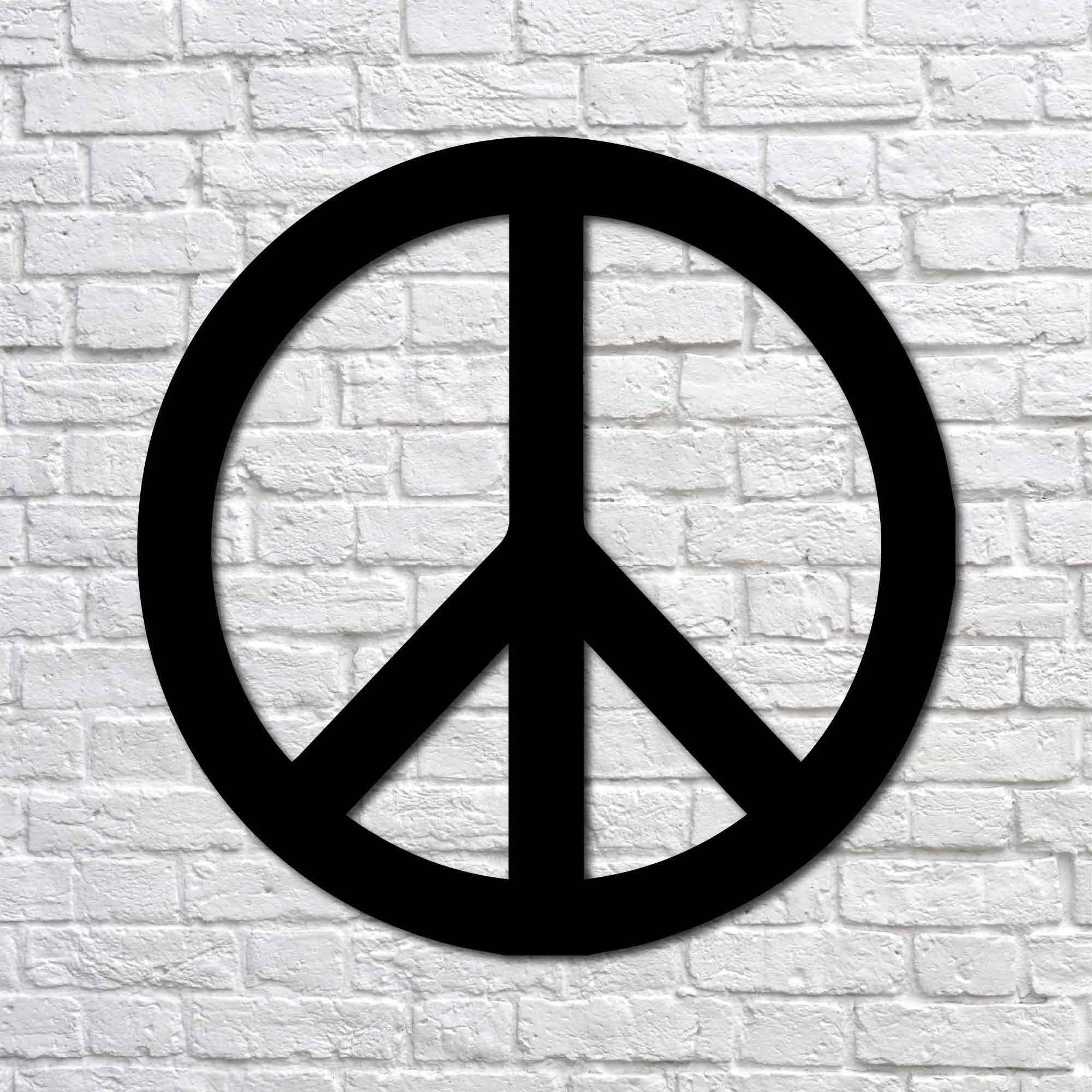 Peace Sign – Mini Metal Wall Art