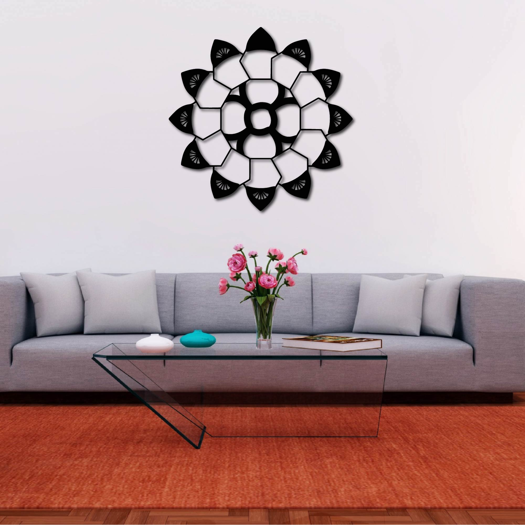 Turtle Eye Mandala – Metal Wall Art