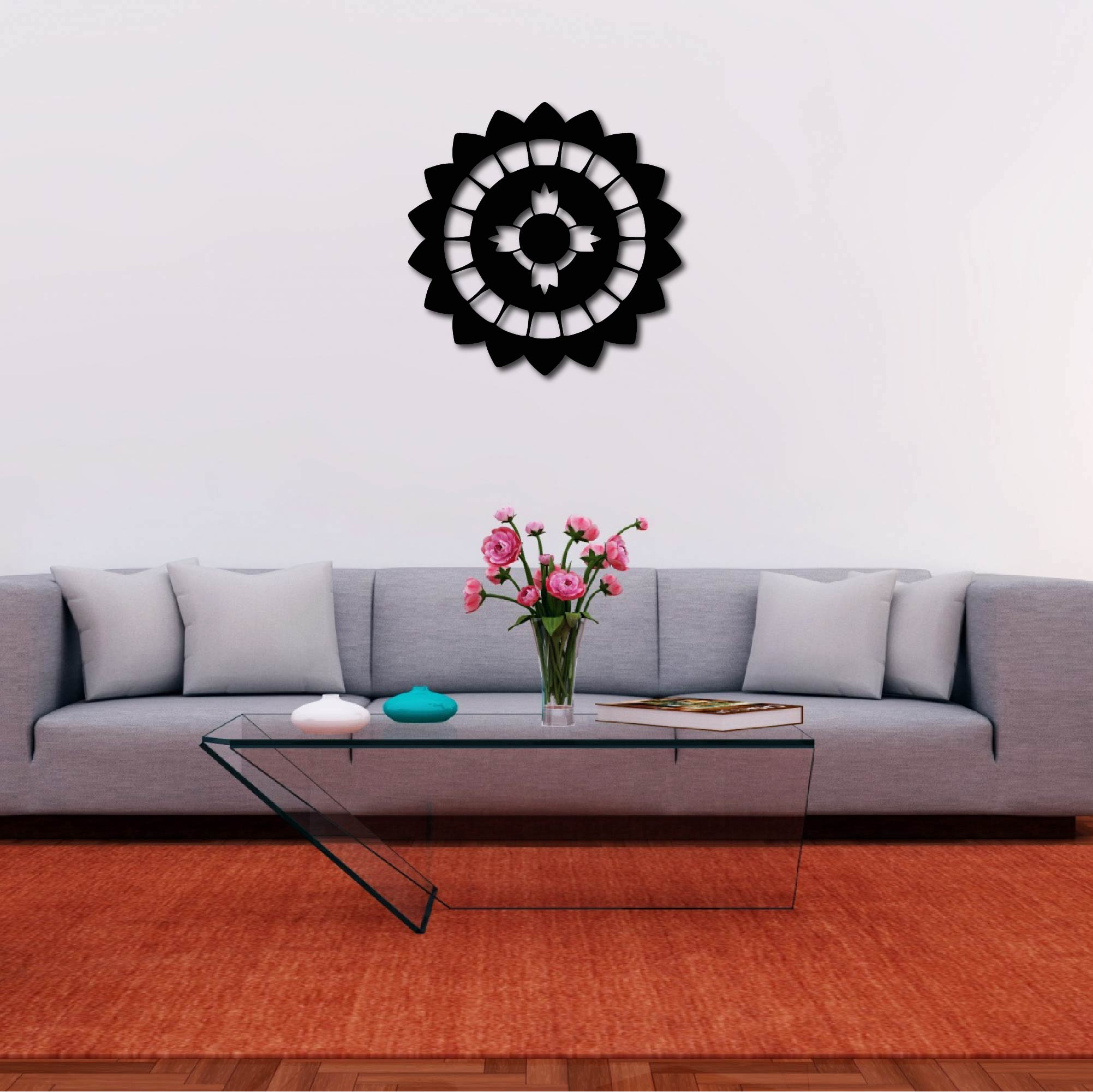 Shield Mandala – Metal Wall Art