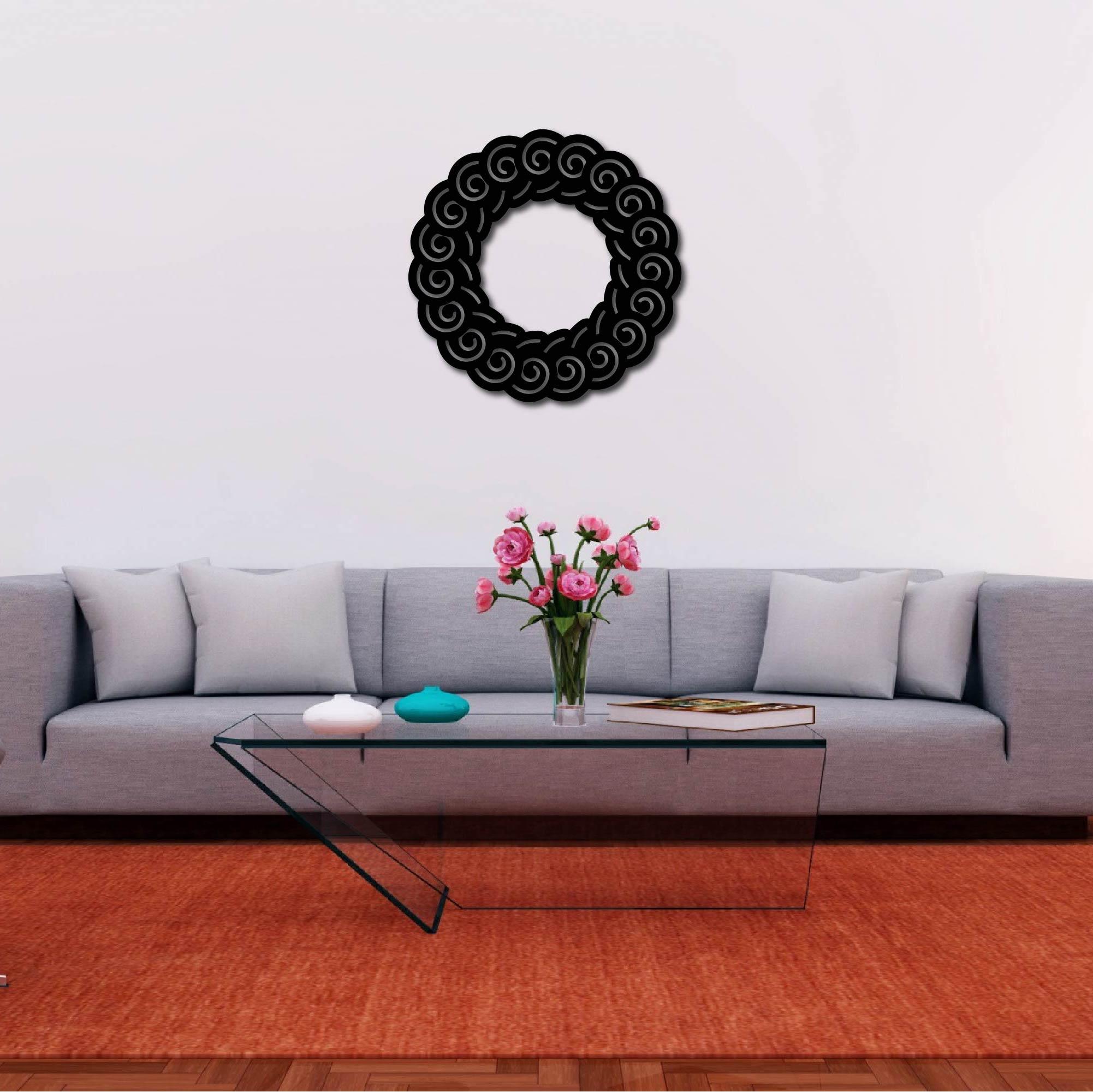 Spiral Mandala – Metal Wall Art