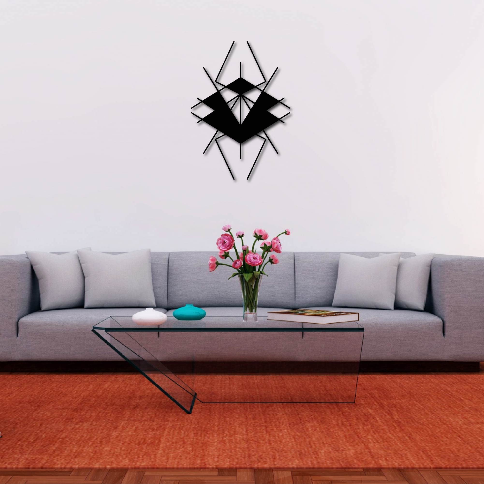 Geometrik Insect  – Metal Wall Art