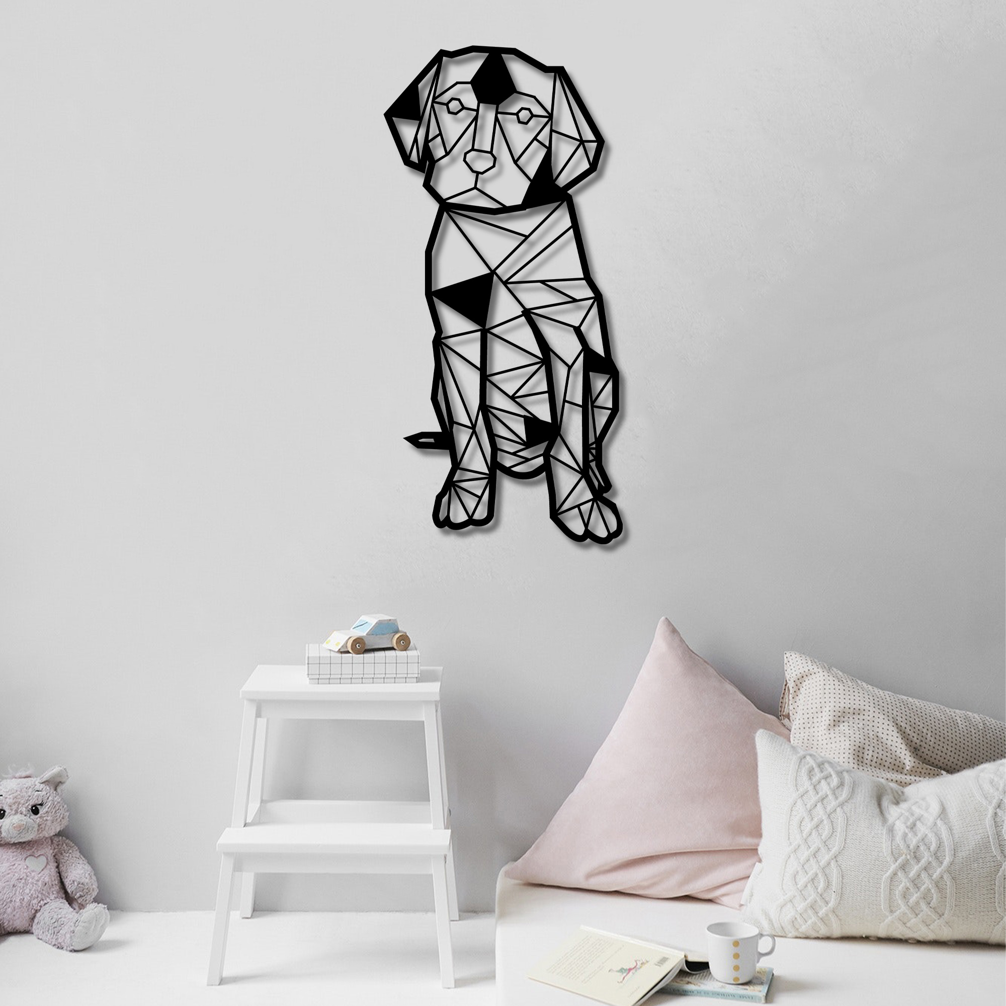 Geometric Dog, Labrador  – Metal Wall Art