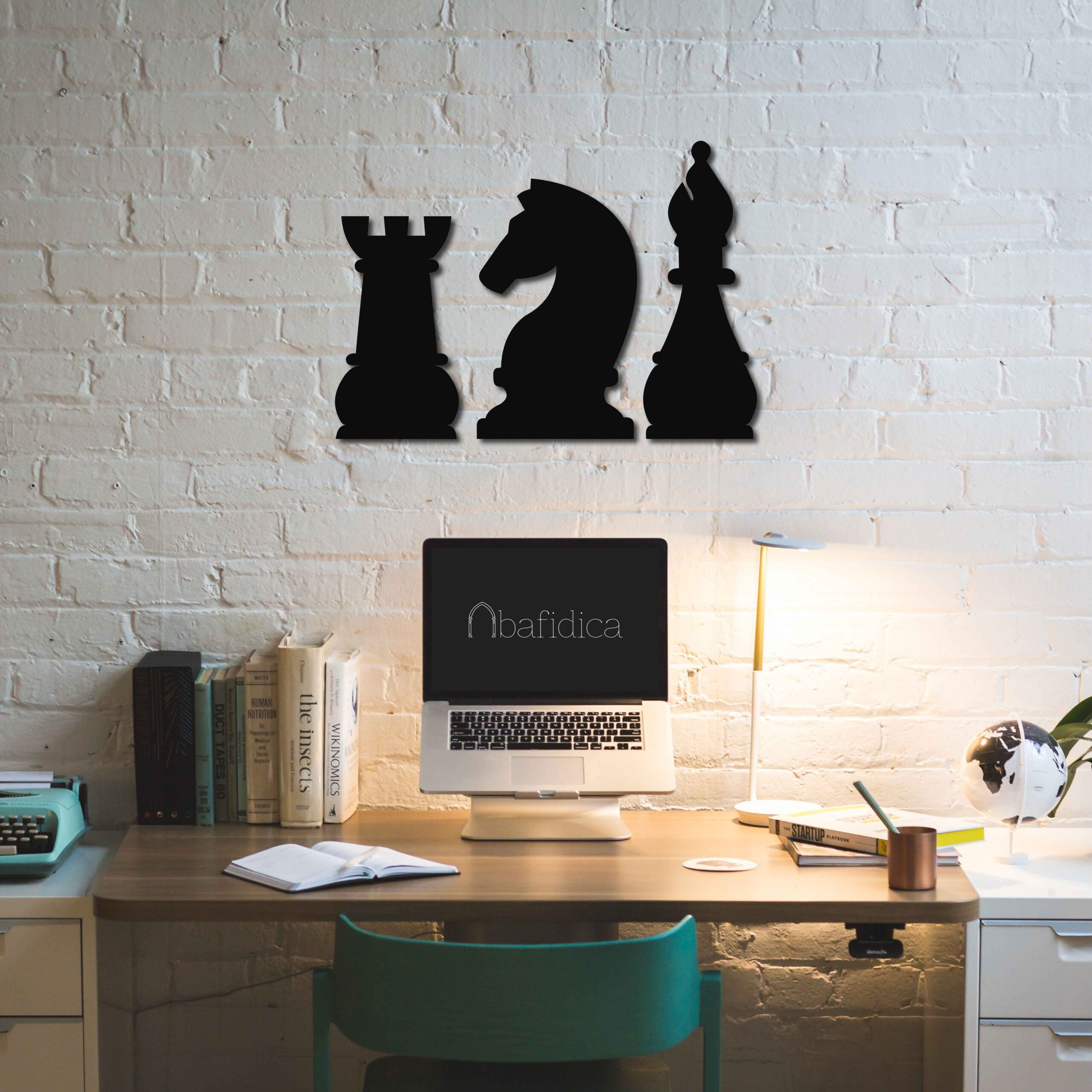 Chess Bishop, Knight and Rook – Metal Wall Art Set