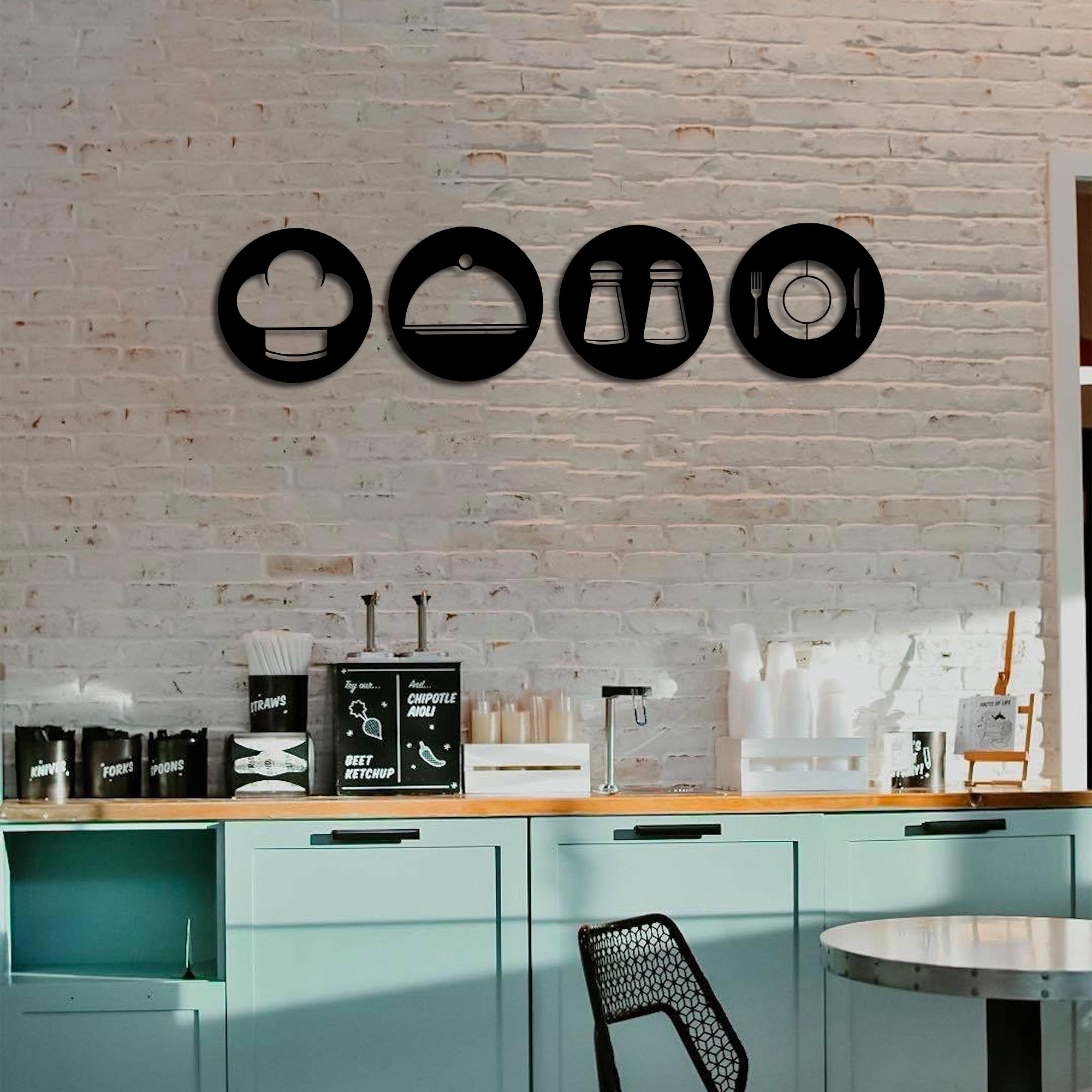 Kitchen Symbols – Metal Wall Art Set