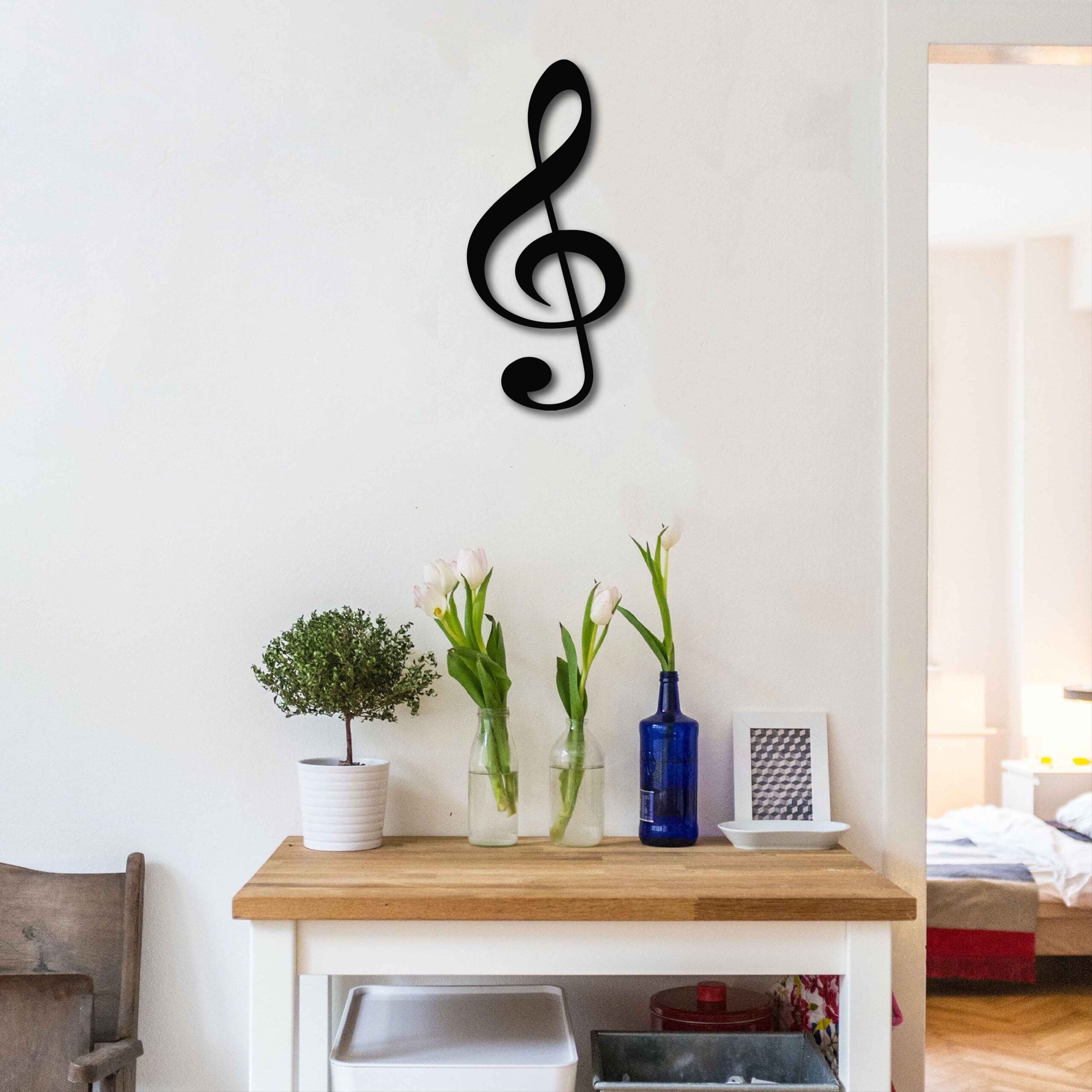 Treble Clef  – Metal Wall Art