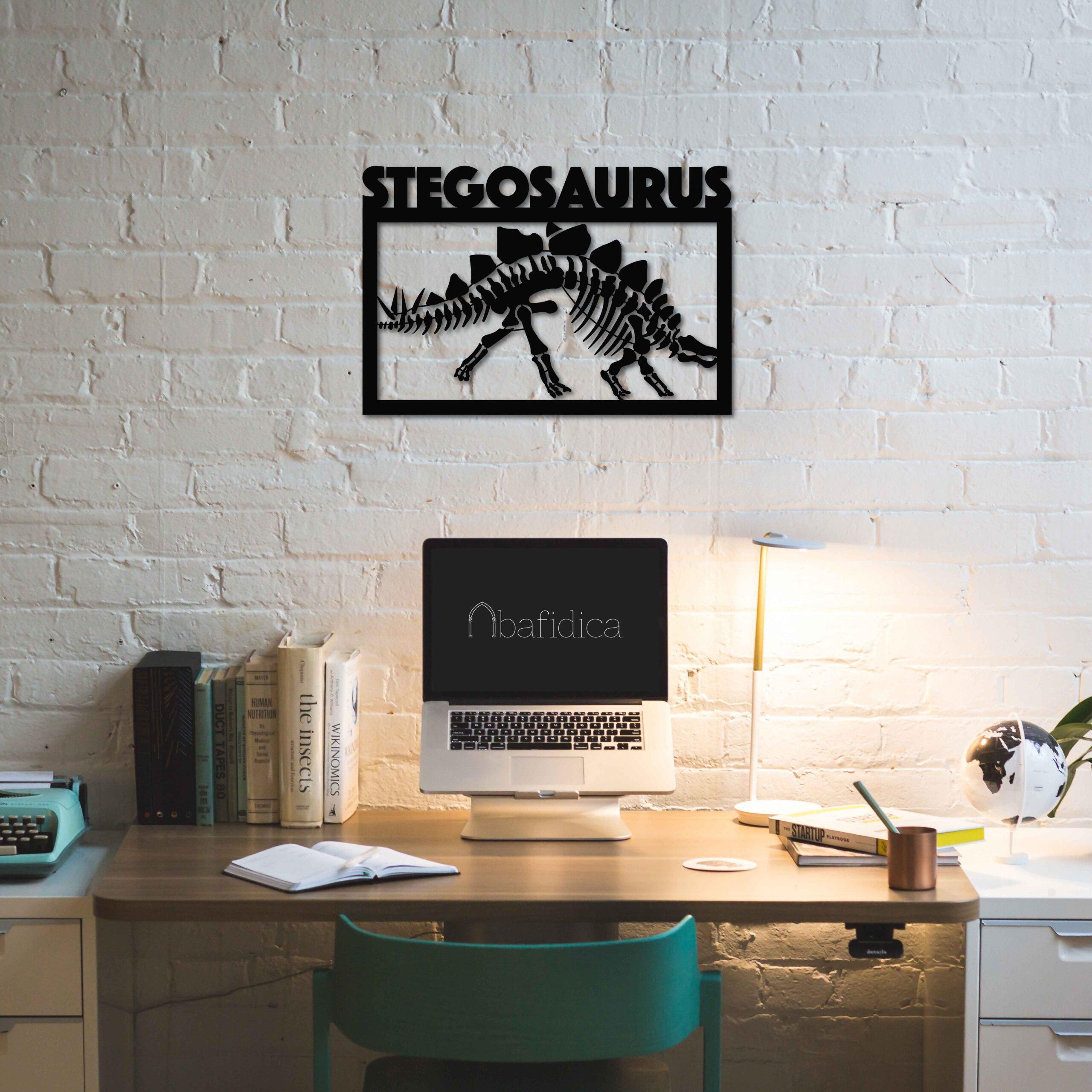 Stegosaurus Fossil – Metal Wall Art