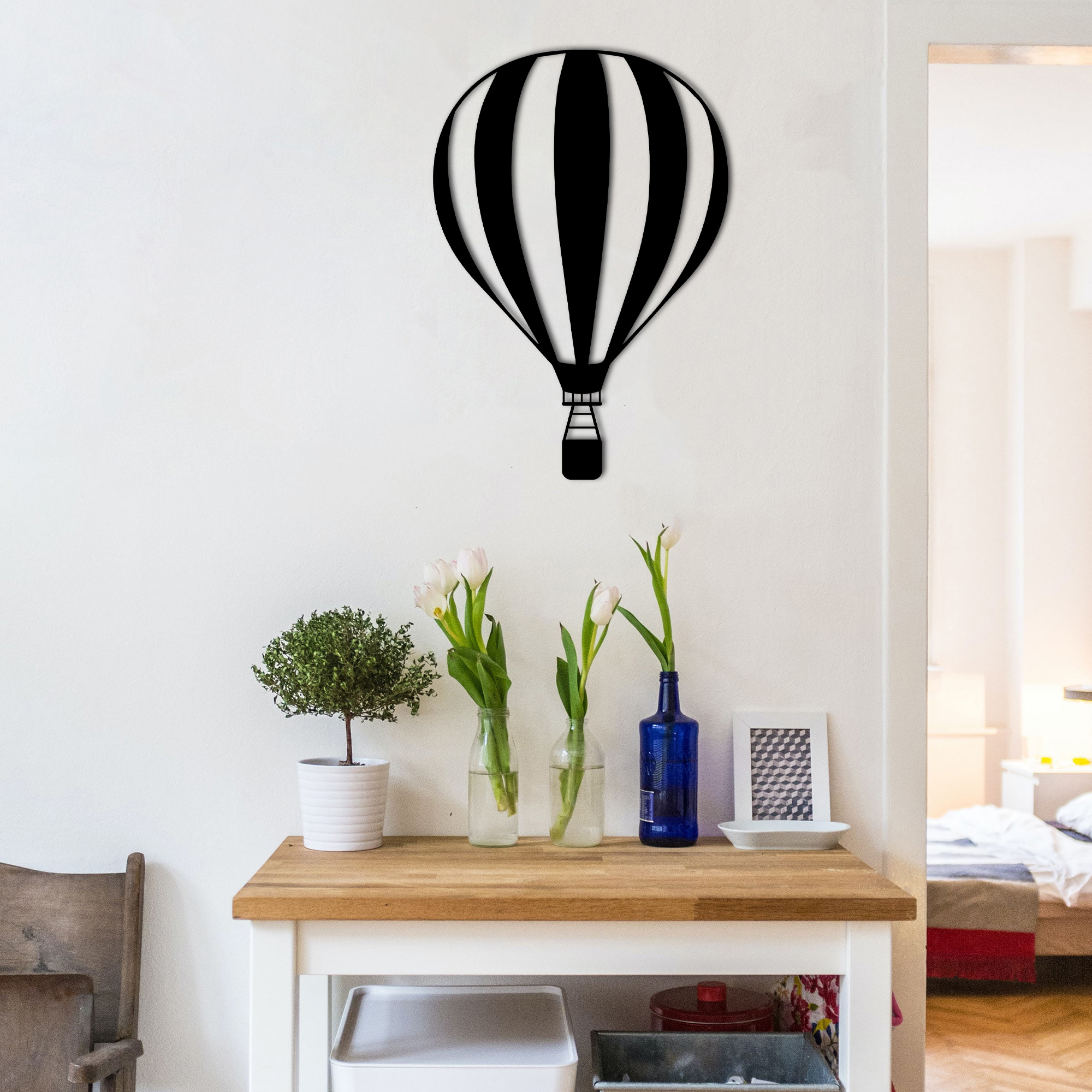Hot Air Balloon II – Metal Wall Art