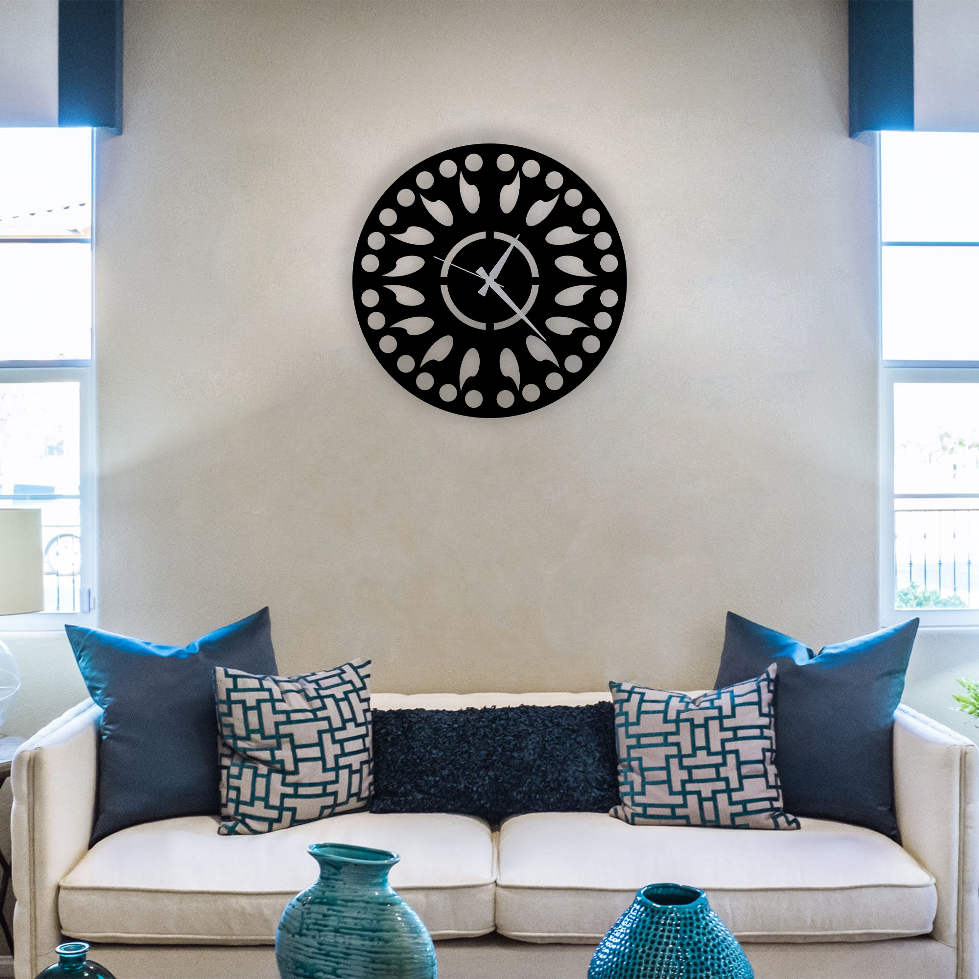 Abstract  – Metal Wall Clock