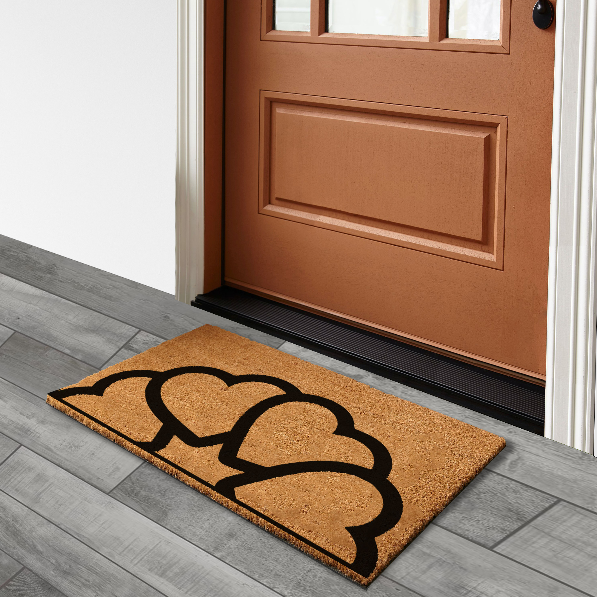 Heart Mandala – Natural Doormat