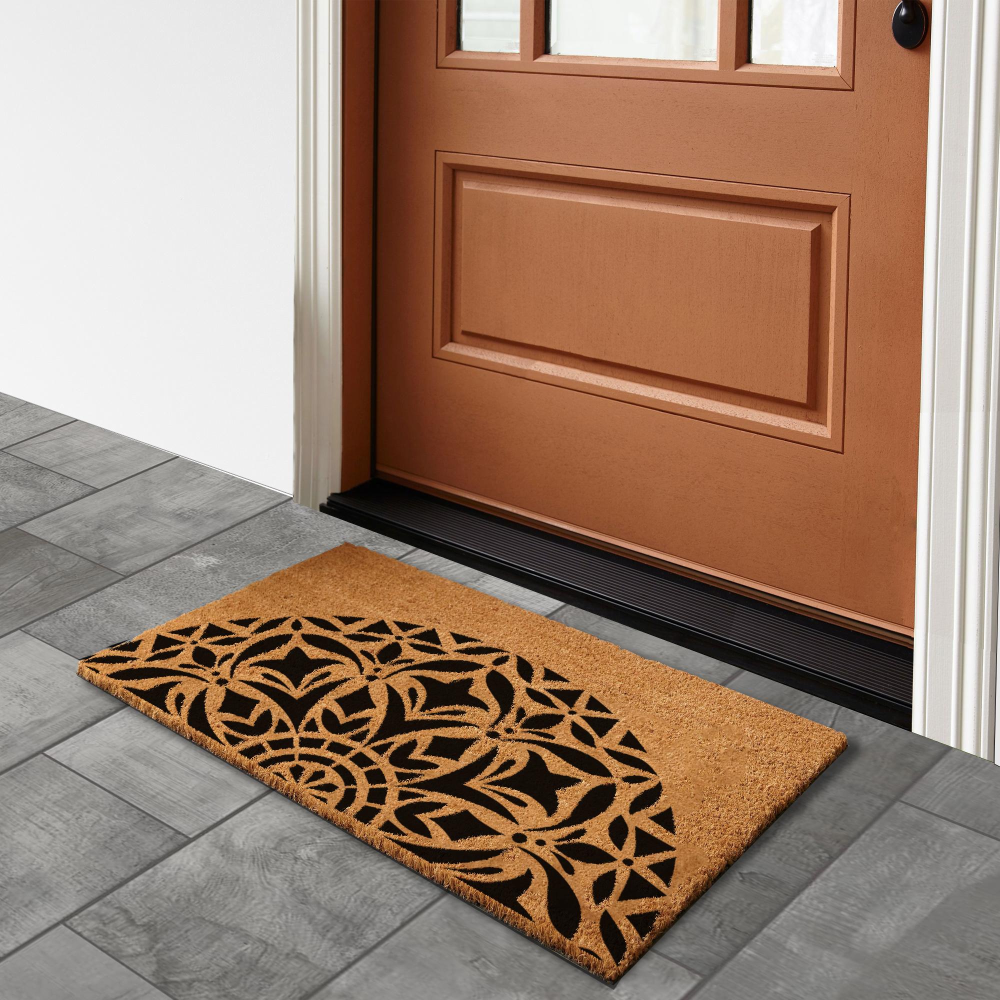 Mandala VI – Natural Doormat