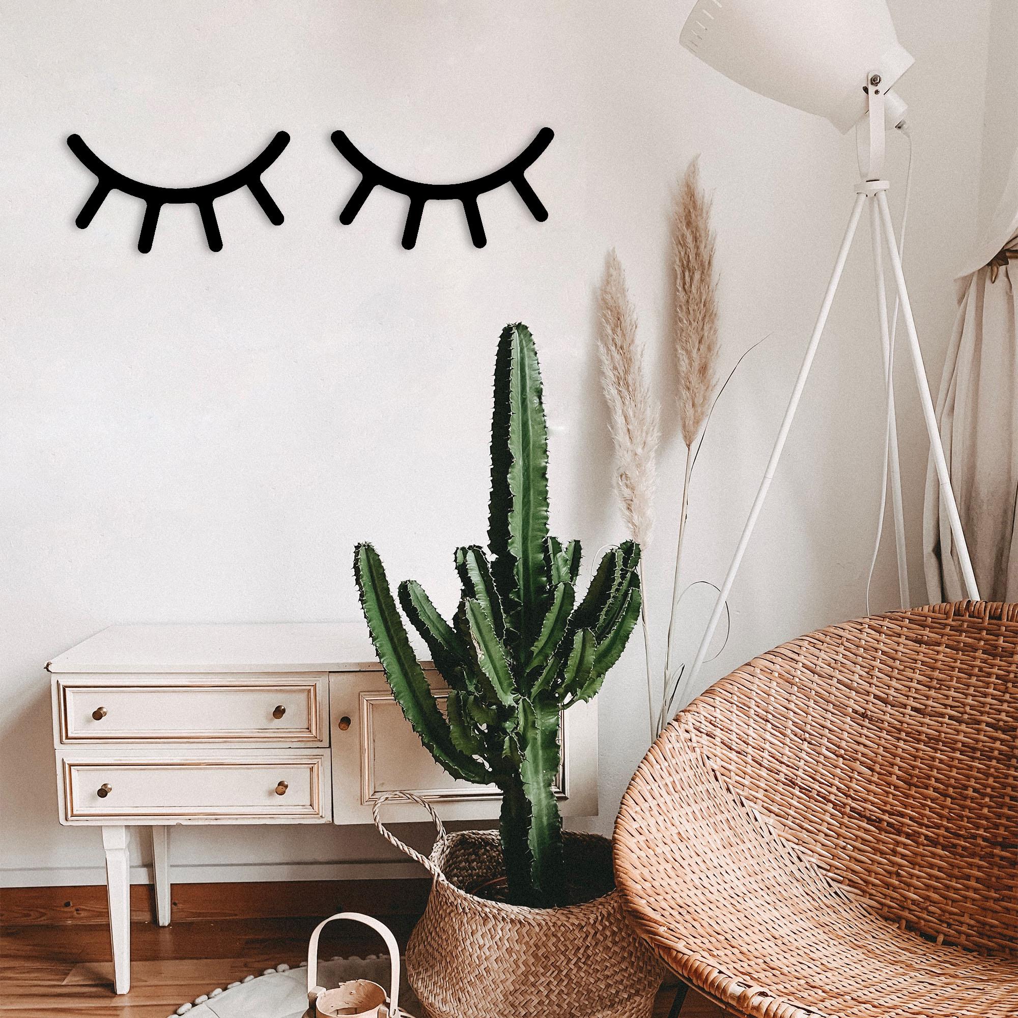 Eyelashes – Metal Wall Art Set