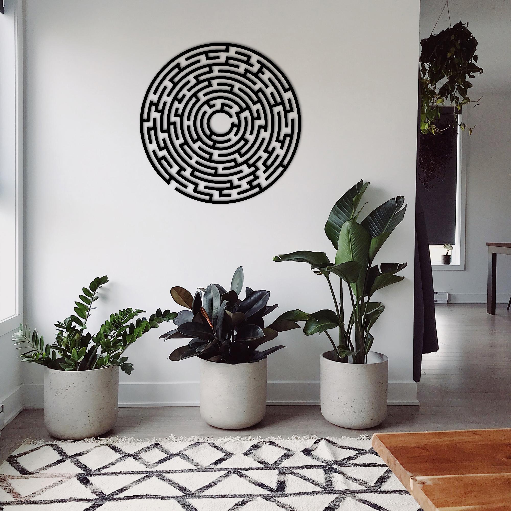 Labyrinth I – Metal Wall Art