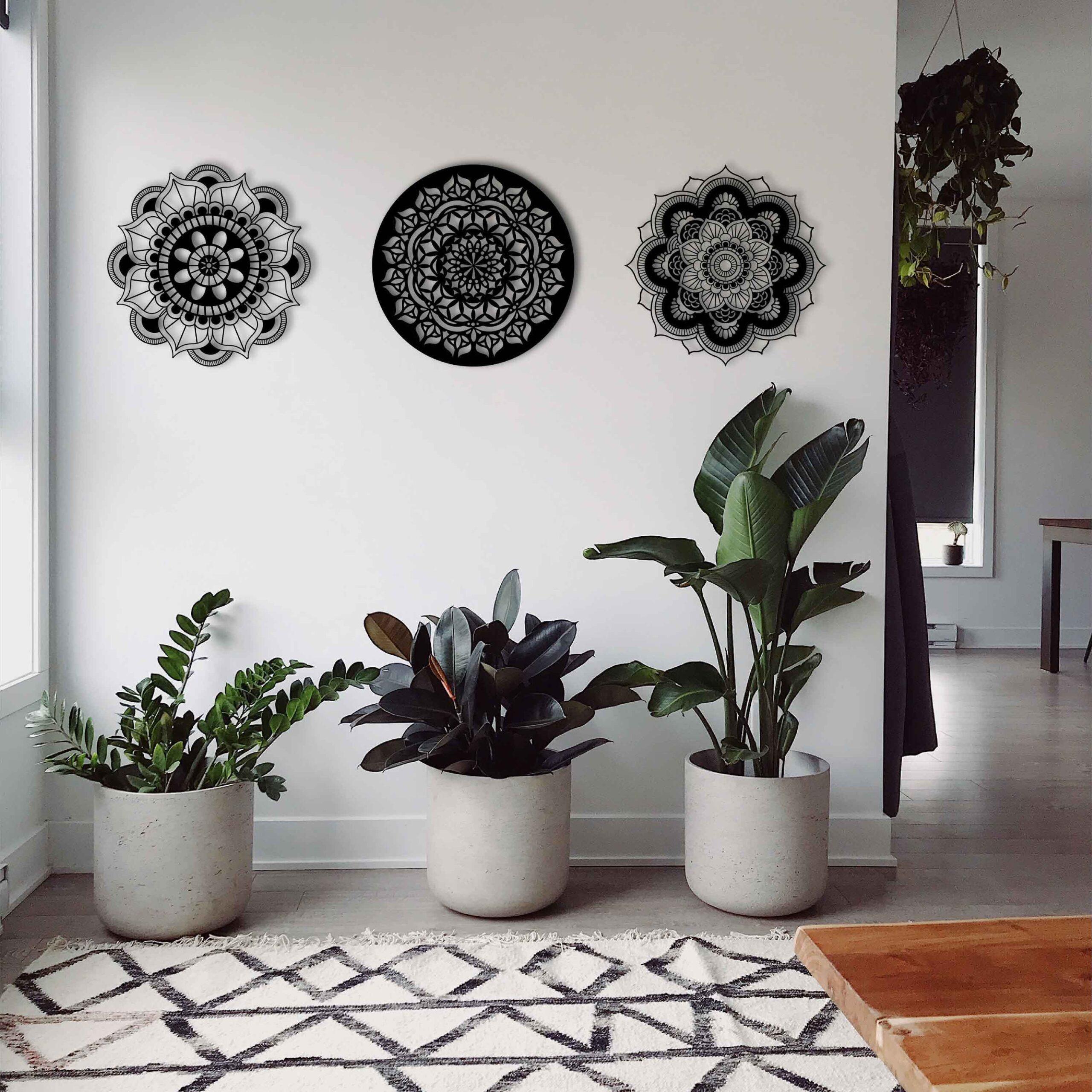 Mandalas – Metal Wall Art Set