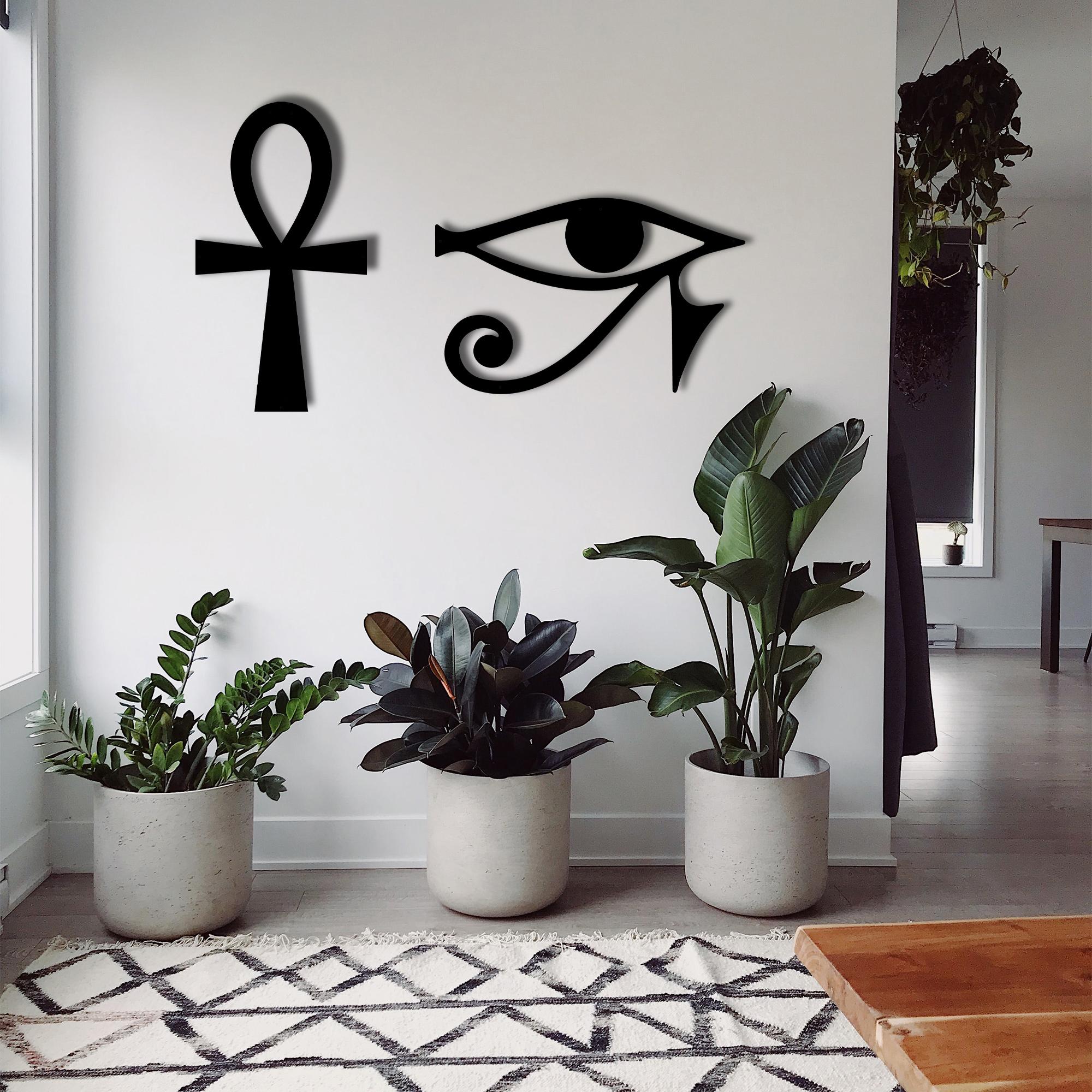 Ankh and Horus – Metal Wall Art Set