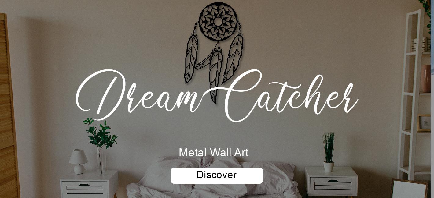 Dream Catcher Metal Wall Art